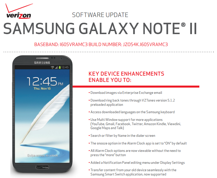 Manual Update for Official Software Upgrade to Jellybean 4.1.2 VRAMC3 firmware for Verizon Galaxy Note 2