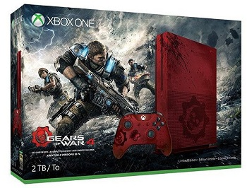 Gears of War 4 Xbox One S Console reveled