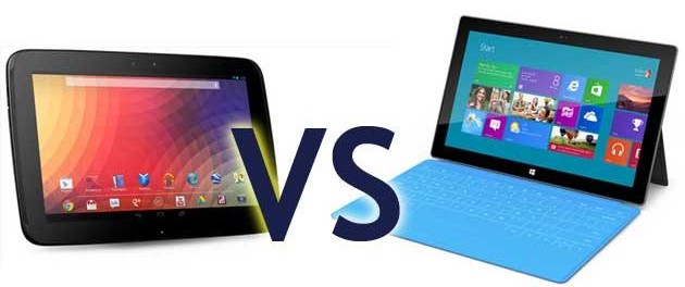 Nexus 10 vs Microsoft Surface