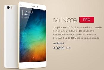 Xiaomi Mi Note2 Pro