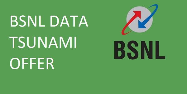 bsnl data tsunami offer