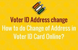change of address on voter id card online