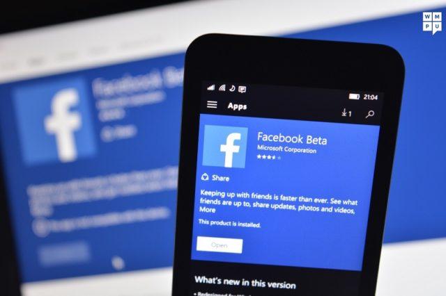 facebook in windows phone